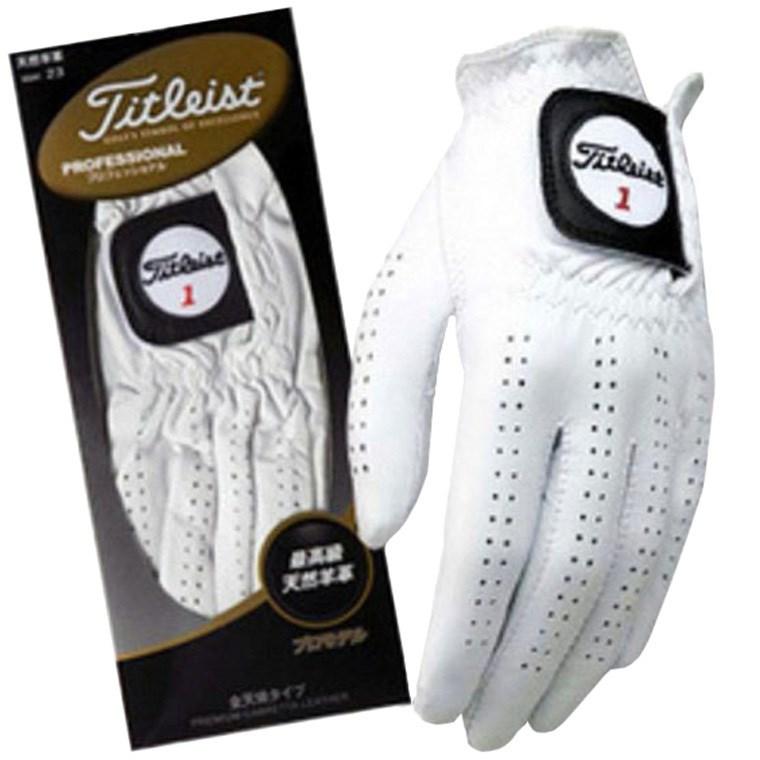 タイトリスト TITLEIST プロフェッショナル グローブ 5枚セット 23cm 左手着用(右利き用) ホワイト