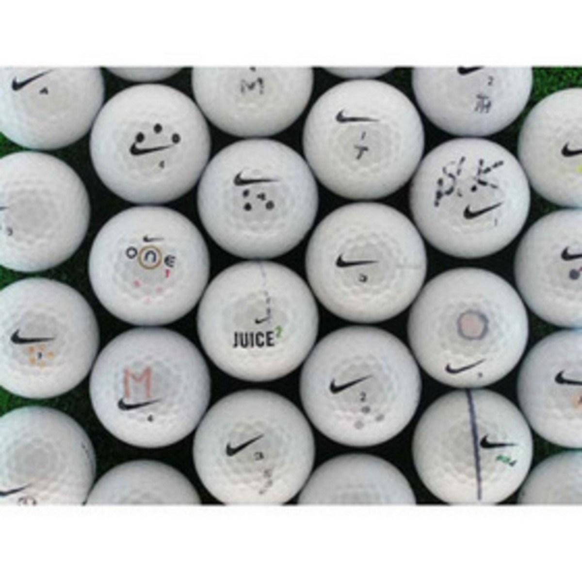 ロストボール メイホウゴルフ ロストボール マーカー入り ナイキ 15個セット