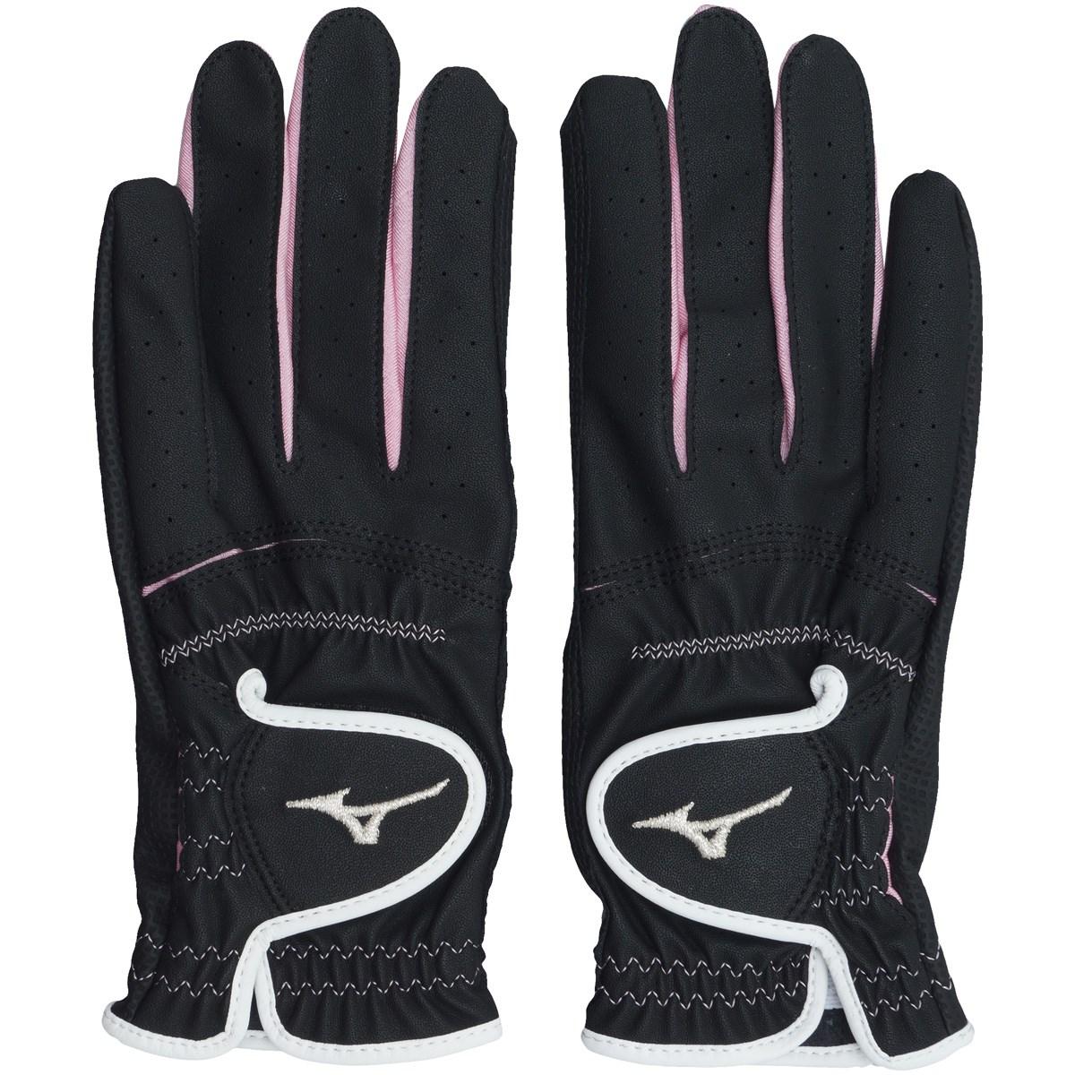 ミズノ MIZUNO efil手袋 両手用 45GH93112 21cm 両手用 ブラック×ピンク レディス