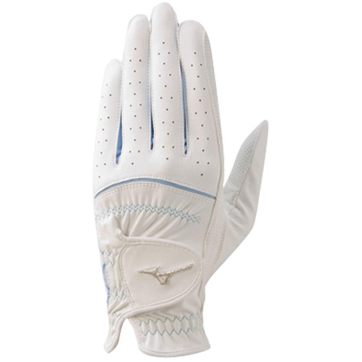 ミズノ MIZUNO efil グローブ 45GH93110 10枚セット 19cm 左手着用(右利き用) ホワイト/サックス レディス