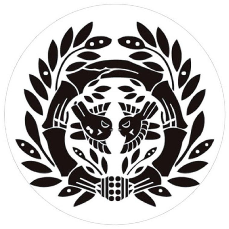 ホクシン交易 竹に二羽飛雀 伊達政宗 マーカー KAM003 ホワイト
