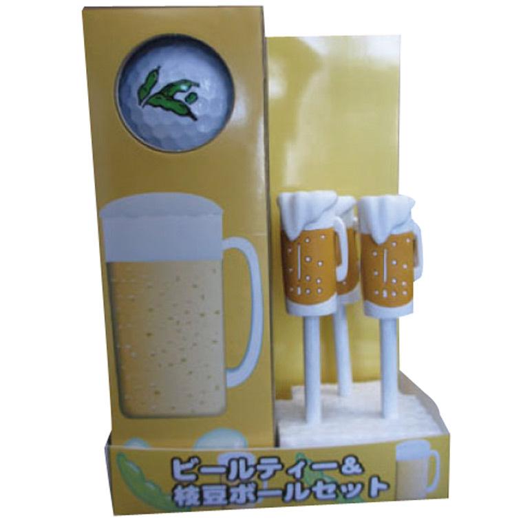 ホクシン交易 生ビールティー3本枝豆ボール3球セット TB0078