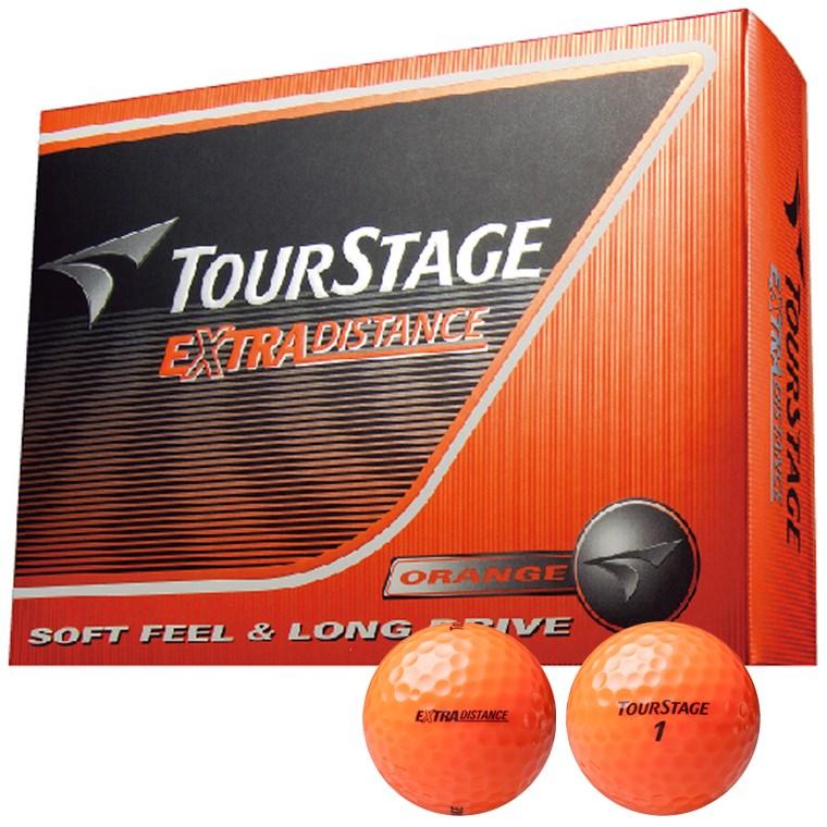 ブリヂストン TOURSTAGE エクストラディスタンス ボール 1ダース(12個入り) オレンジ