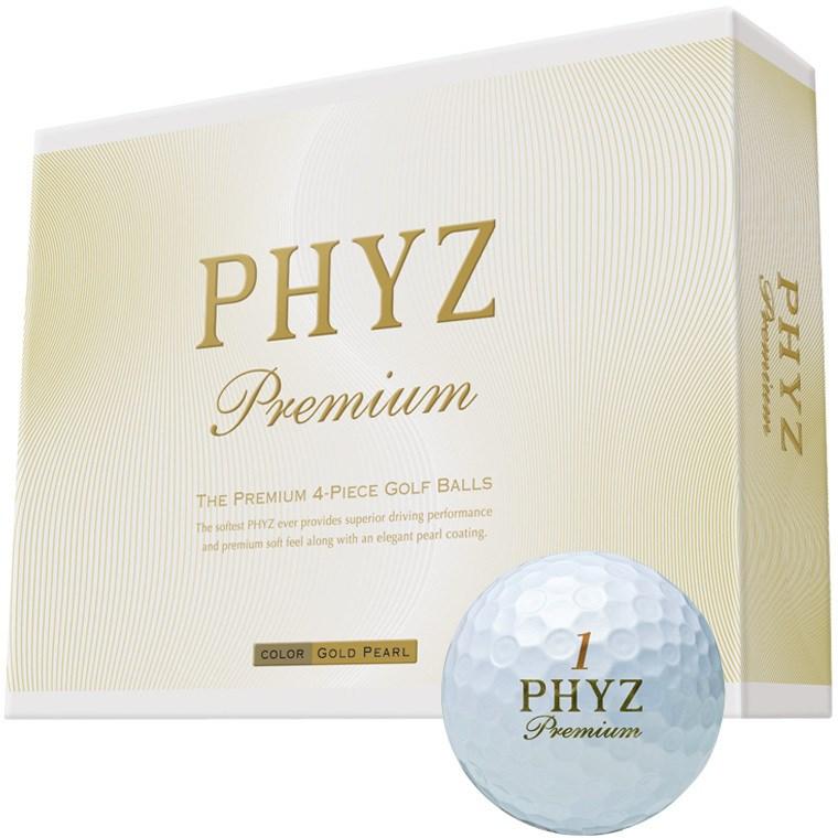 ブリヂストン PHYZ PHYZ プレミアムボール 1ダース(12個入り) ゴールドパール