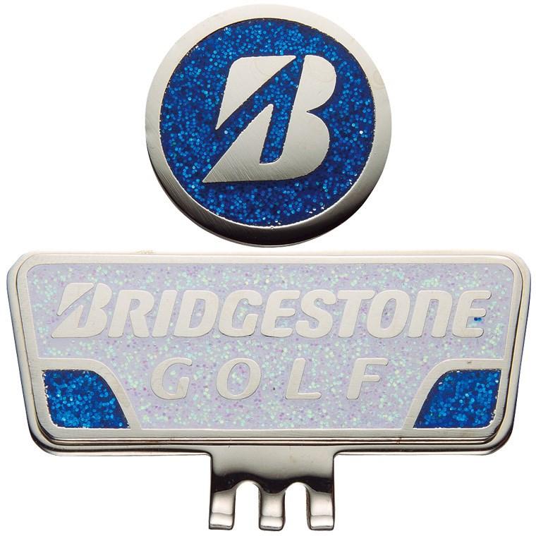 ブリヂストン BRIDGESTONE GOLF キャップマーカー GAG401 ホワイト/ブルー