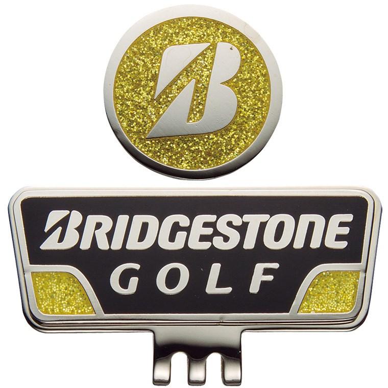 ブリヂストン BRIDGESTONE GOLF キャップマーカー GAG401 ブラック/イエロー