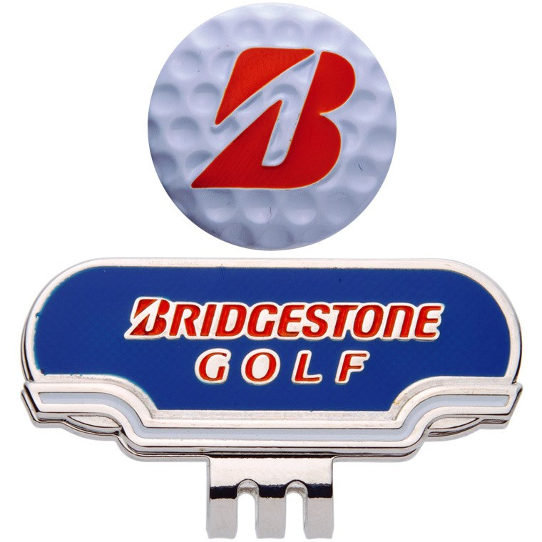 ブリヂストン BRIDGESTONE GOLF キャップマーカー ブルー/オレンジ