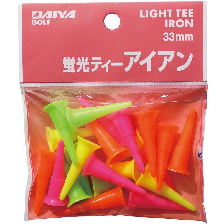 ダイヤゴルフ DAIYA GOLF 蛍光ティー アイアン ミックス(イエロー/グリーン/ピンク/オレンジ)