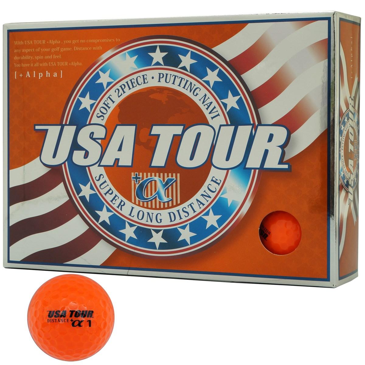 朝日ゴルフ用品 USA TOUR USA ツアーディスタンス+α カラーボール 1ダース(12個入り) オレンジ