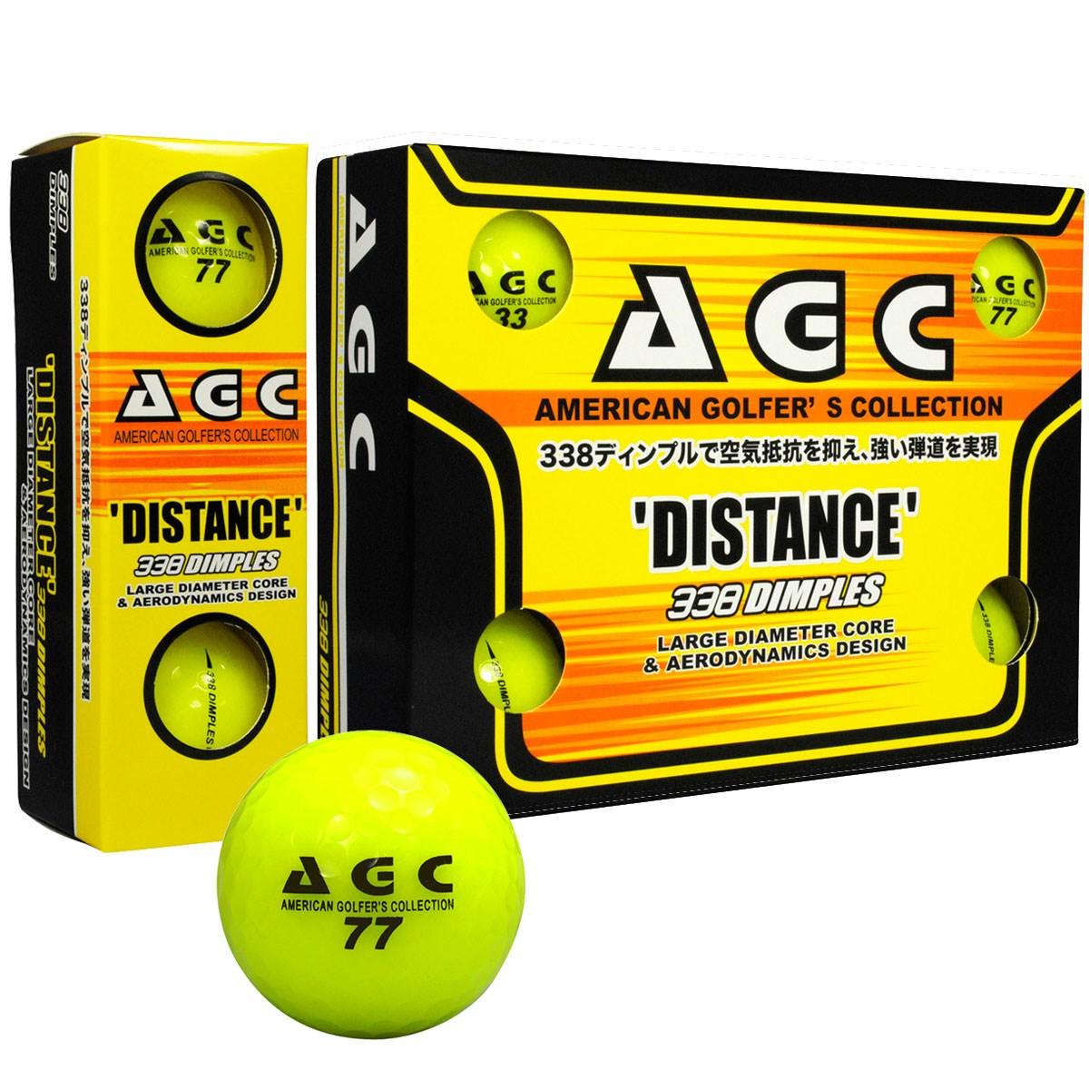 レザックス AGC 高輝度ネオンボール 1ダース(12個入り) イエロー 【非公認球】