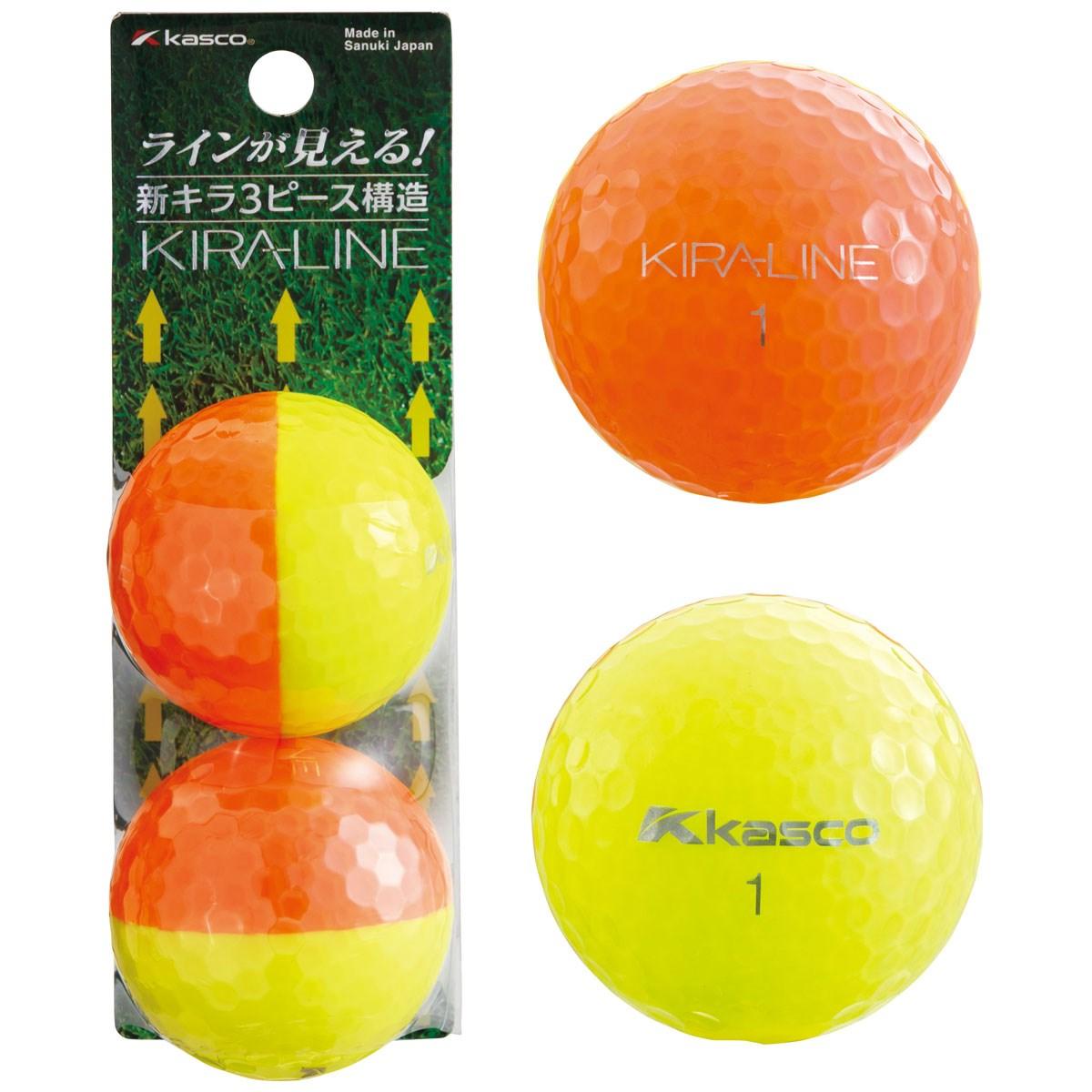 キャスコ KIRA KIRA LINE ボール 2球パック 2個入り オレンジ/イエロー