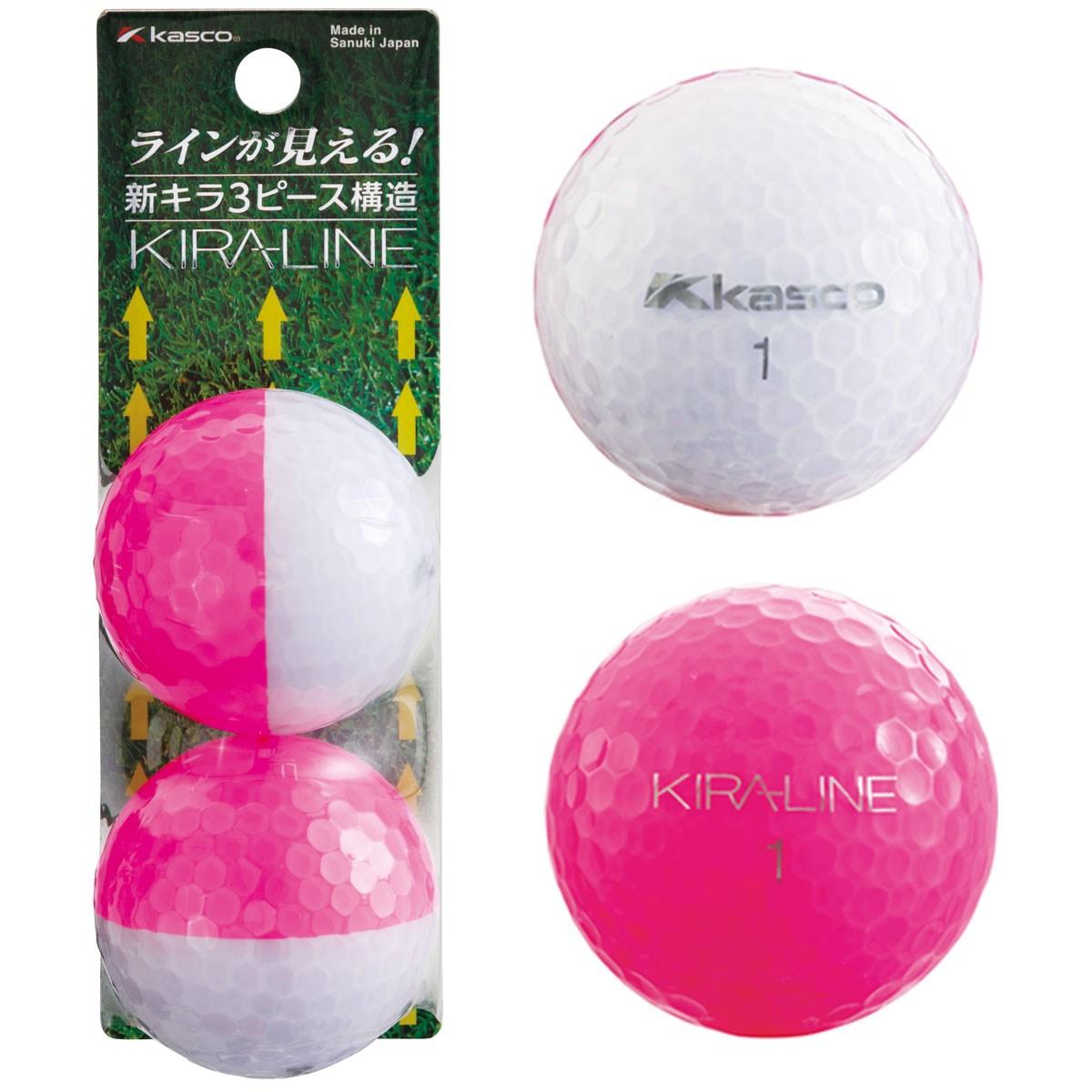 キャスコ KIRA KIRA LINE ボール 2球パック 2個入り ピンク/ホワイト