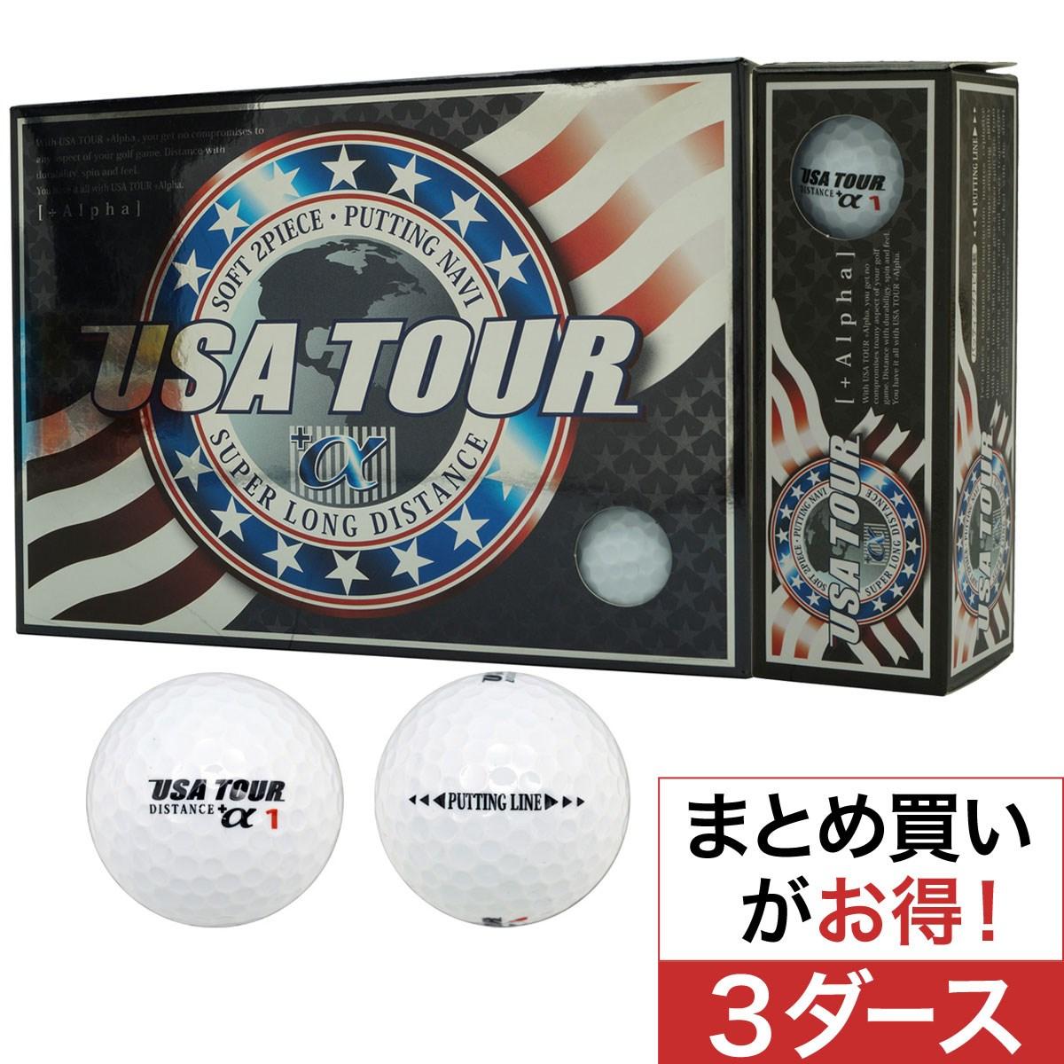 朝日ゴルフ用品(ASAHI GOLF CO.,LTD) USA ツアーディスタンス+α カラーボール 3ダースセット