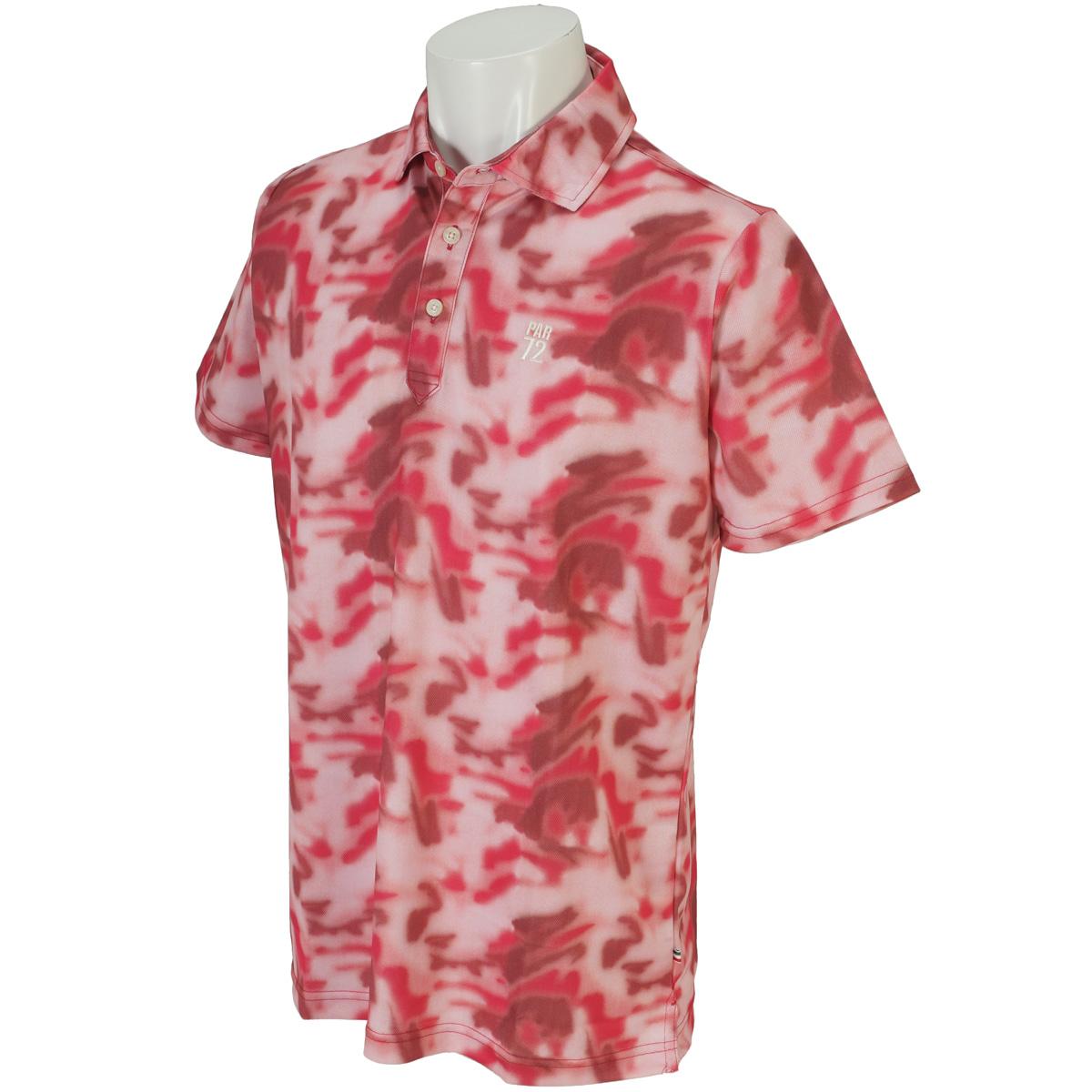吸汗速乾UV総柄半袖ポロシャツ