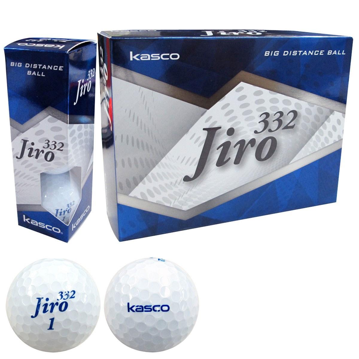 キャスコ KASCO jiro332ボール 1ダース(12個入り) ホワイト