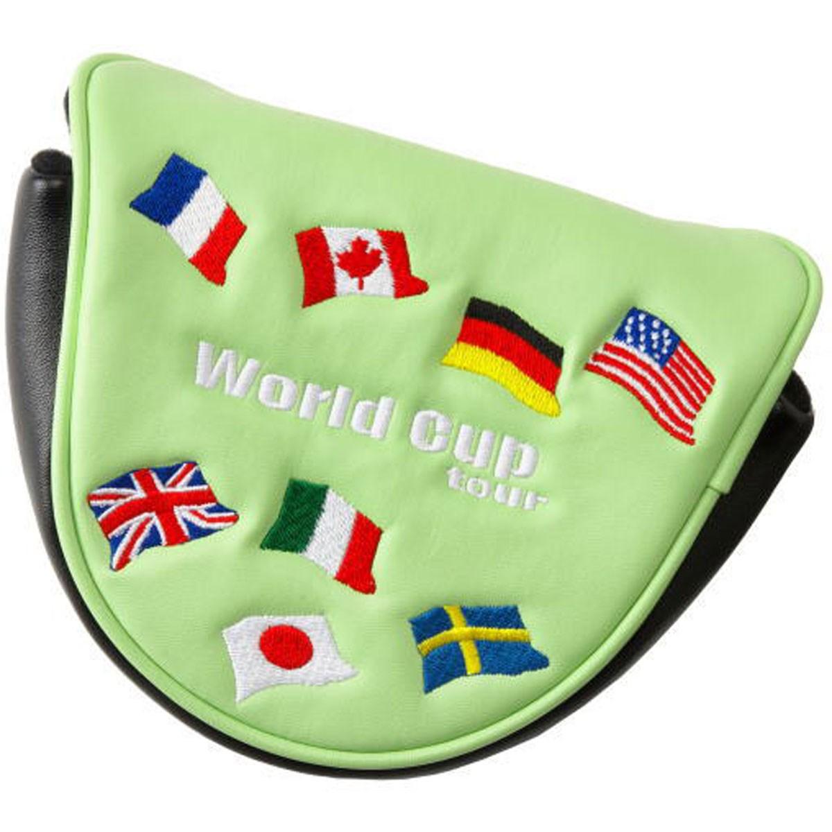 クリオコーポレーション KURIO CORPORATION ワールドカップツアー パターカバー 2ボールタイプ ライムグリーン メンズ ゴルフ
