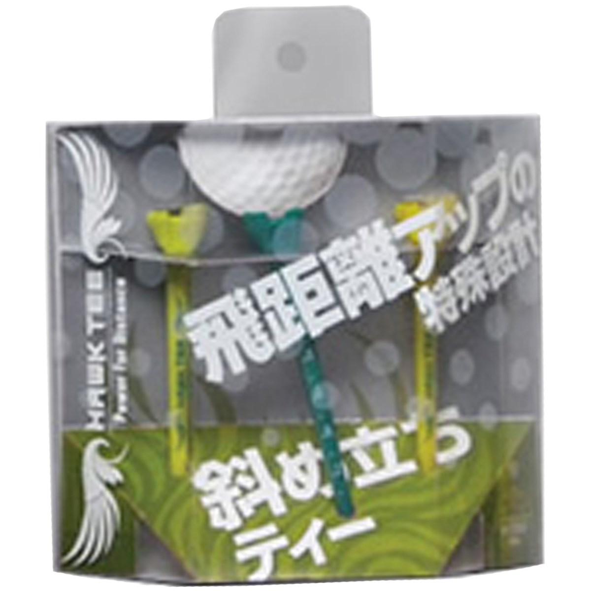 ホークティー ドラコン競技公認ティー 85mm(3本入り) グリーン/イエロー/ライム