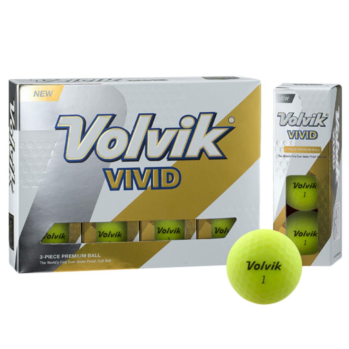 ボルビック Volvik VIVID ボール 1ダース(12個入り) マットグリーン