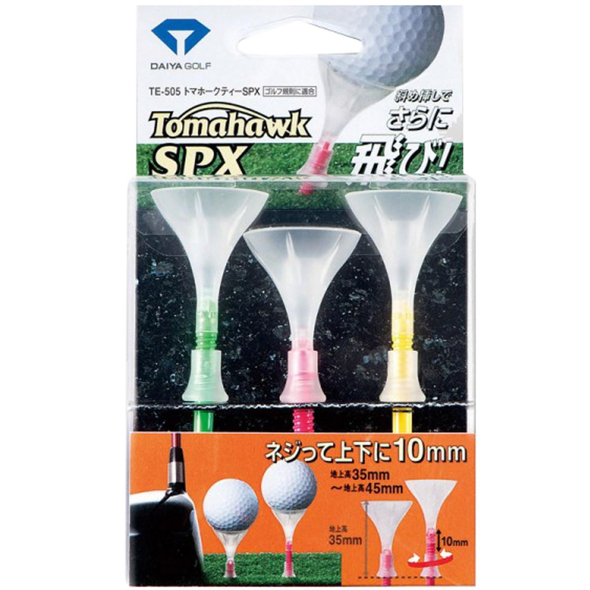 ダイヤゴルフ DAIYA GOLF トマホークティーSPX ピンク/グリーン/イエロー