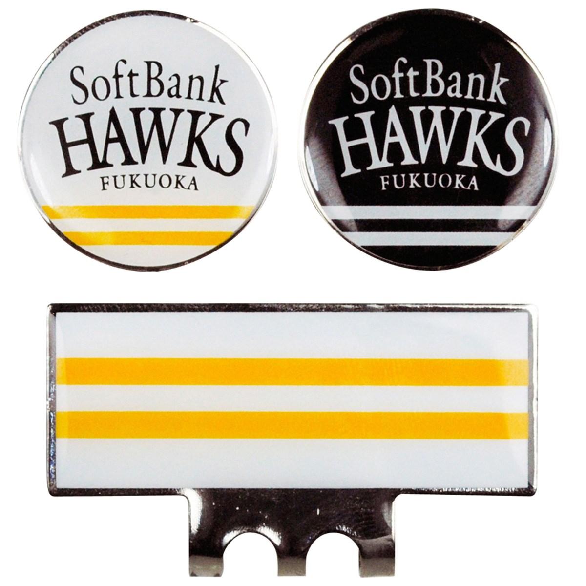 福岡ソフトバンクホークス クリップマーカー ホワイト/ブラック