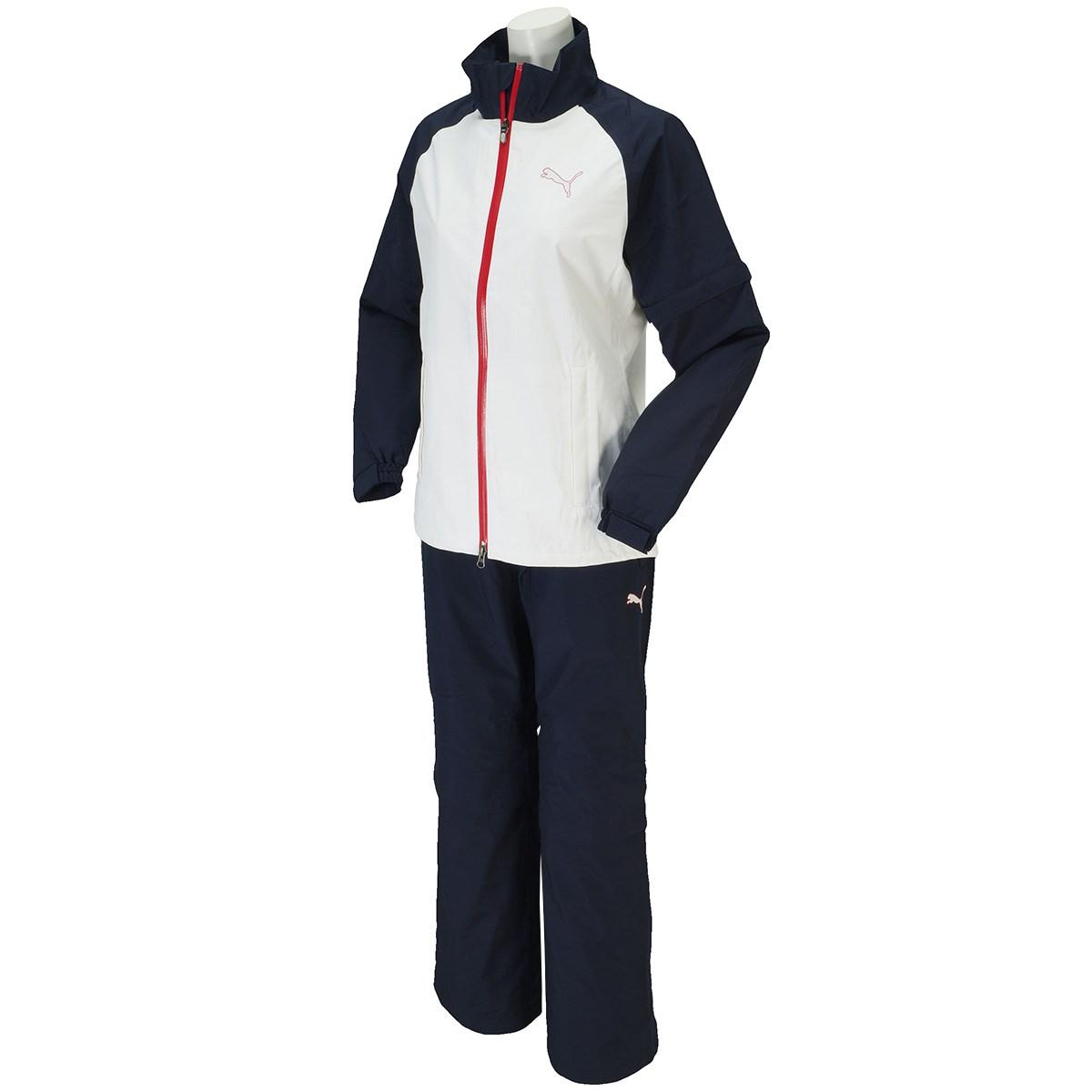 [アウトレット] [在庫限りのお買い得商品] プーマ PUMA レインウェア上下セット ホワイト/ピーコート 02 レディース ゴルフウェア