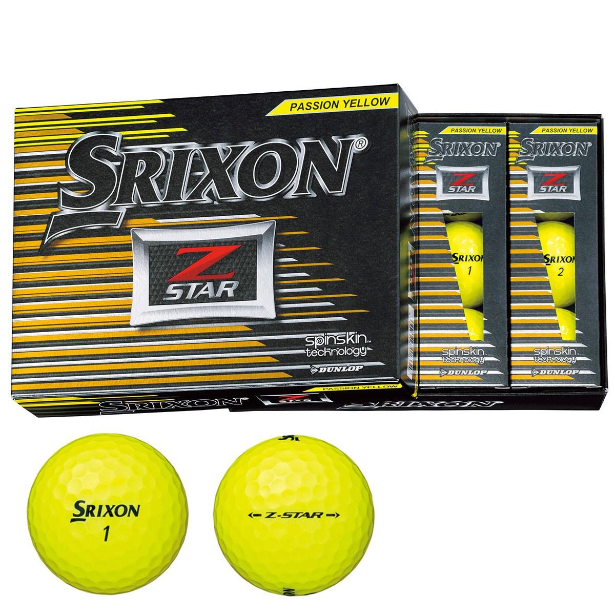 ダンロップ SRIXON Z-STAR ボール 1ダース(12個入り) プレミアムパッションイエロー