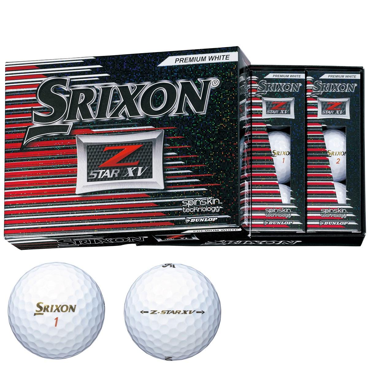 ダンロップ SRIXON Z-STAR XV ボール 1ダース(12個入り) プレミアムホワイト