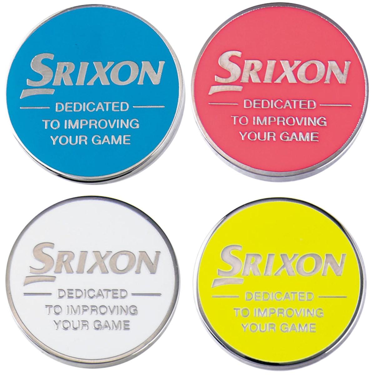 ダンロップ SRIXON Tマーカー 4個セット ホワイト/イエロー/ブルー/ピンク