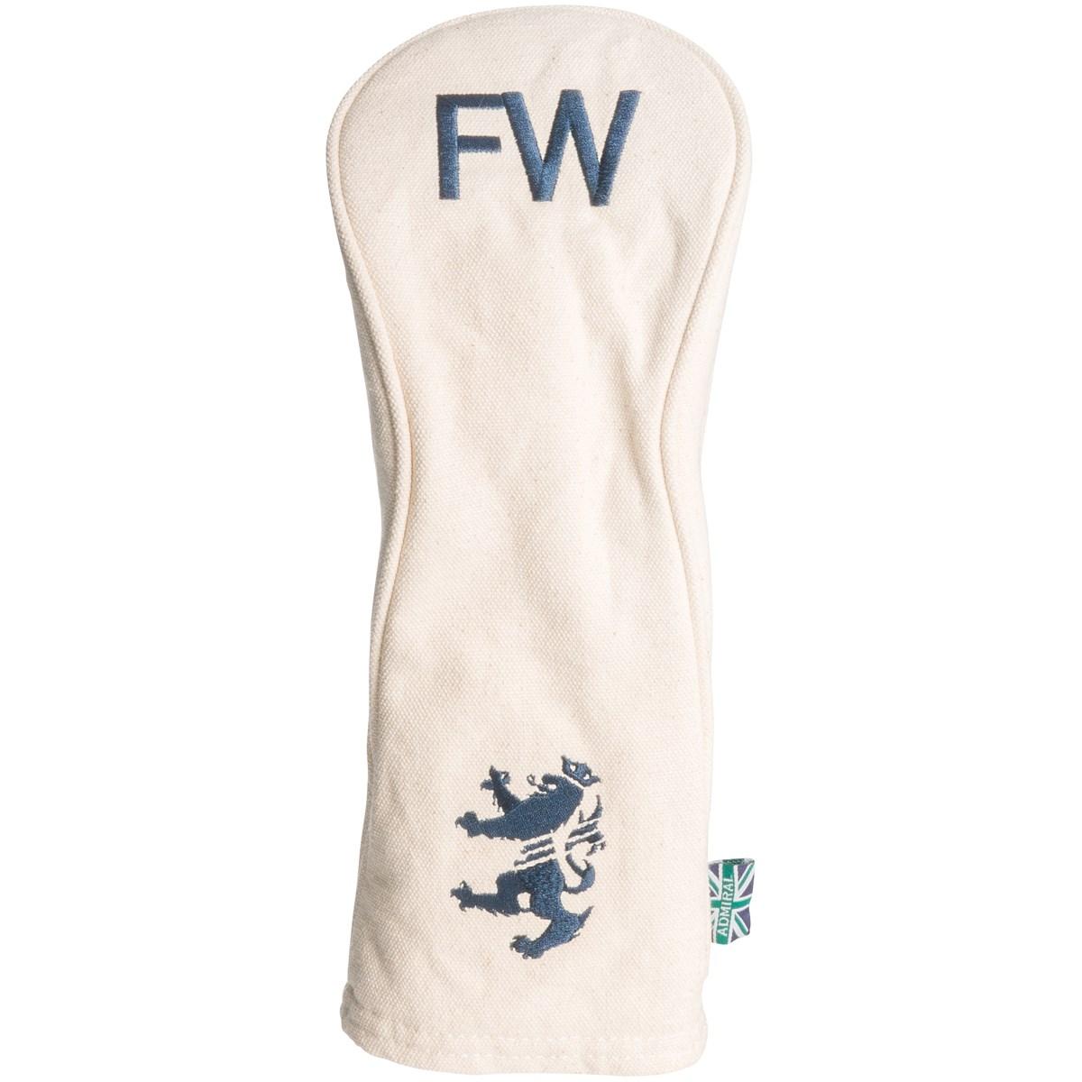 [定番モデル] アドミラル Admiral 帆布 ヘッドカバー FW用 ホワイト 00 メンズ ゴルフ