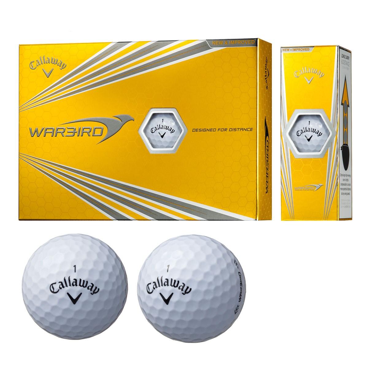 キャロウェイゴルフ WARBIRD ウォーバード ボール 2017年モデル 1ダース(12個入り) ホワイト