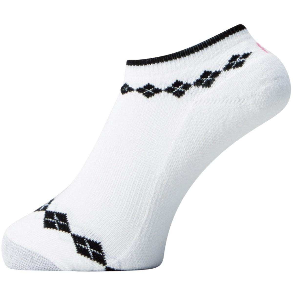 フットジョイ Foot Joy 17 プロドライ ショートソックス フリー ホワイト/ブラック レディス