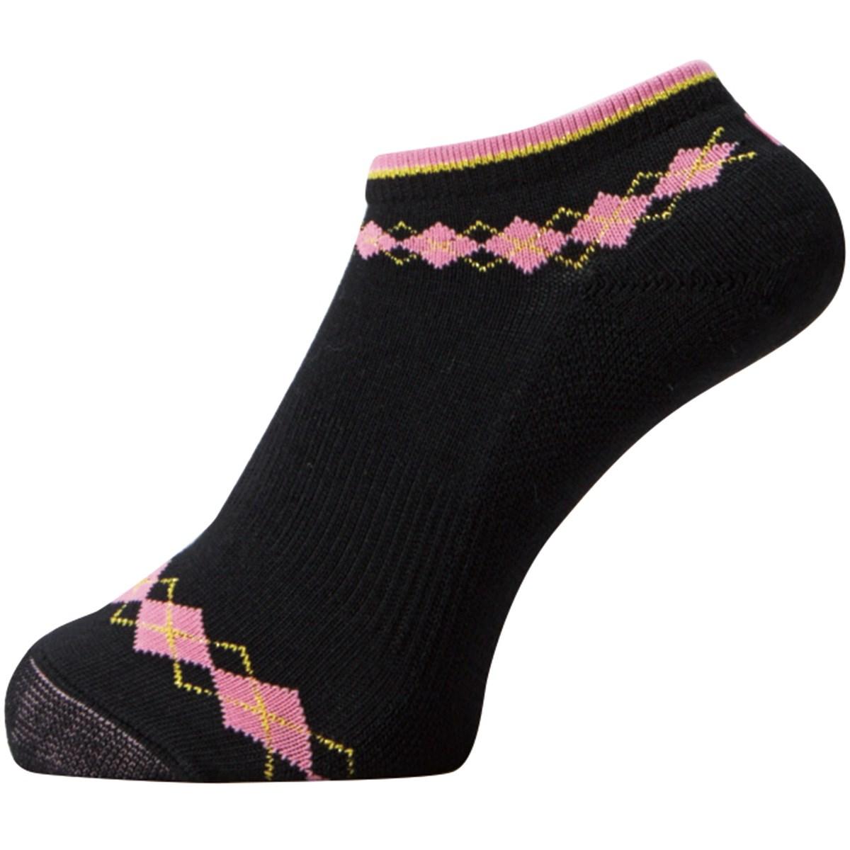 フットジョイ Foot Joy 17 プロドライ ショートソックス フリー ブラック/ピンク レディス