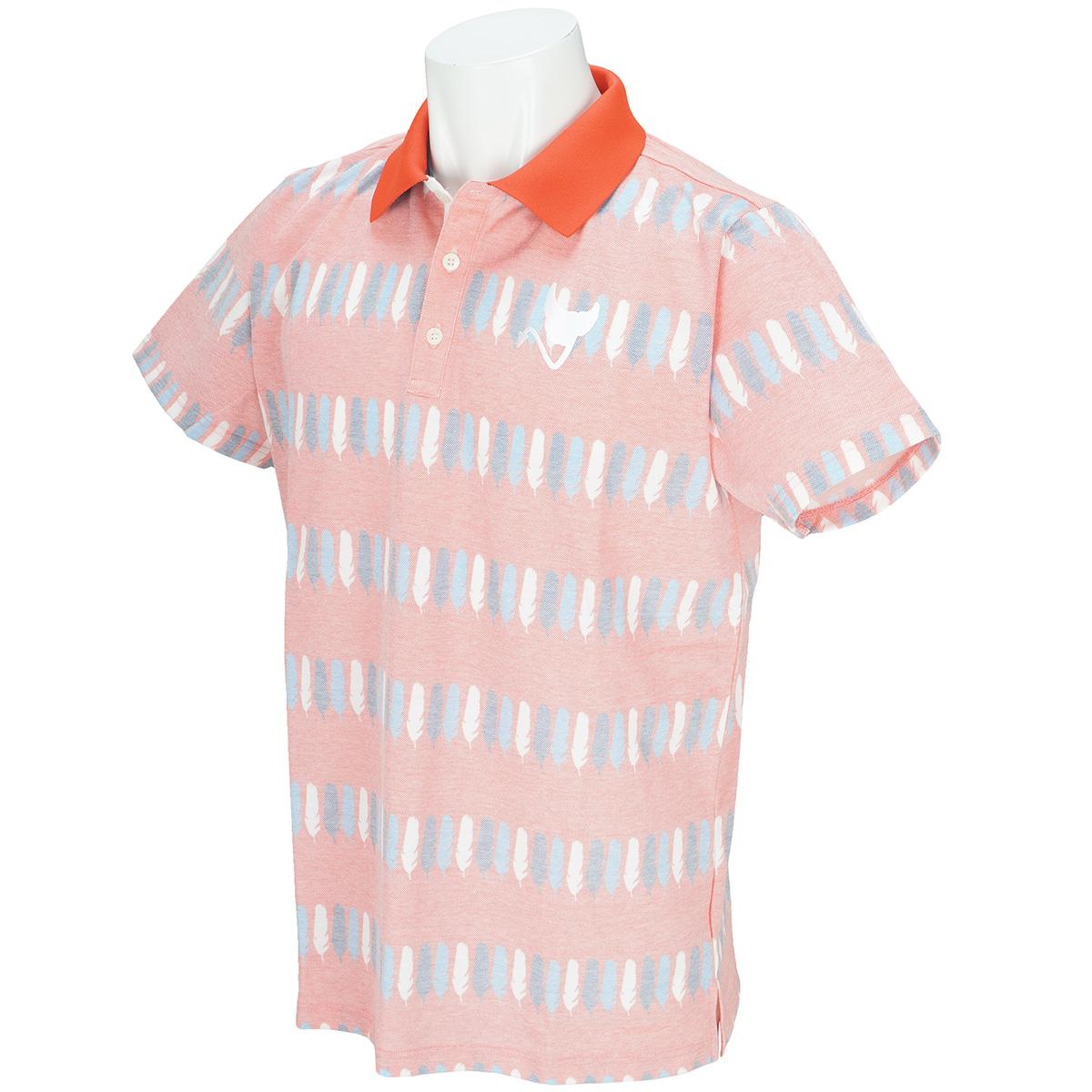 ウイングボーダー半袖ポロシャツ