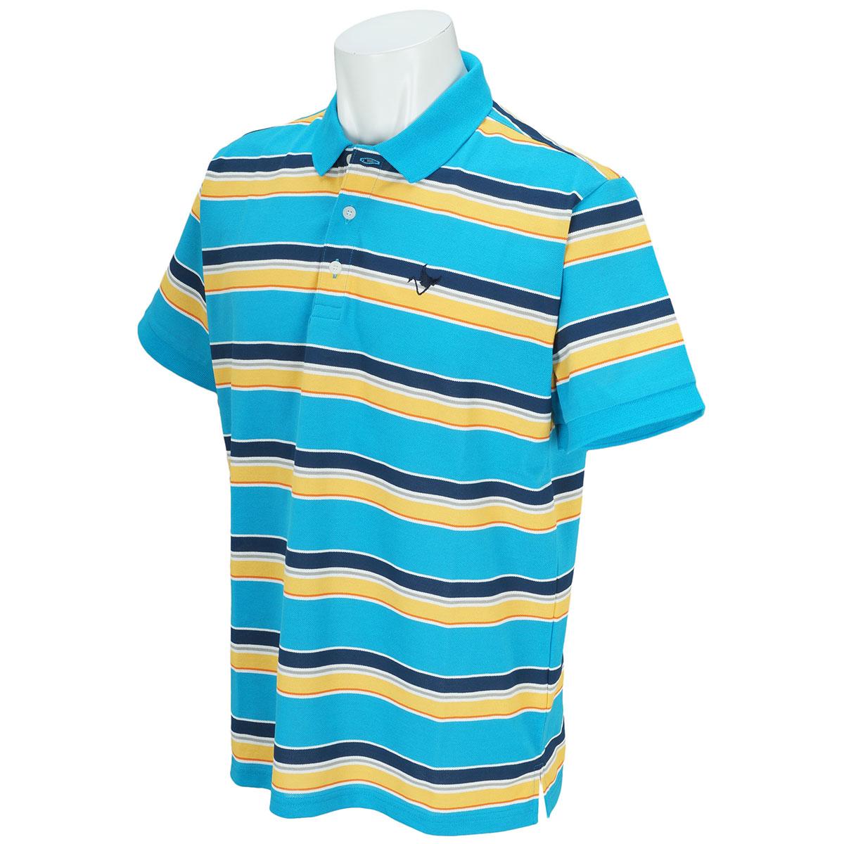DPマルチボーダー半袖ポロシャツ