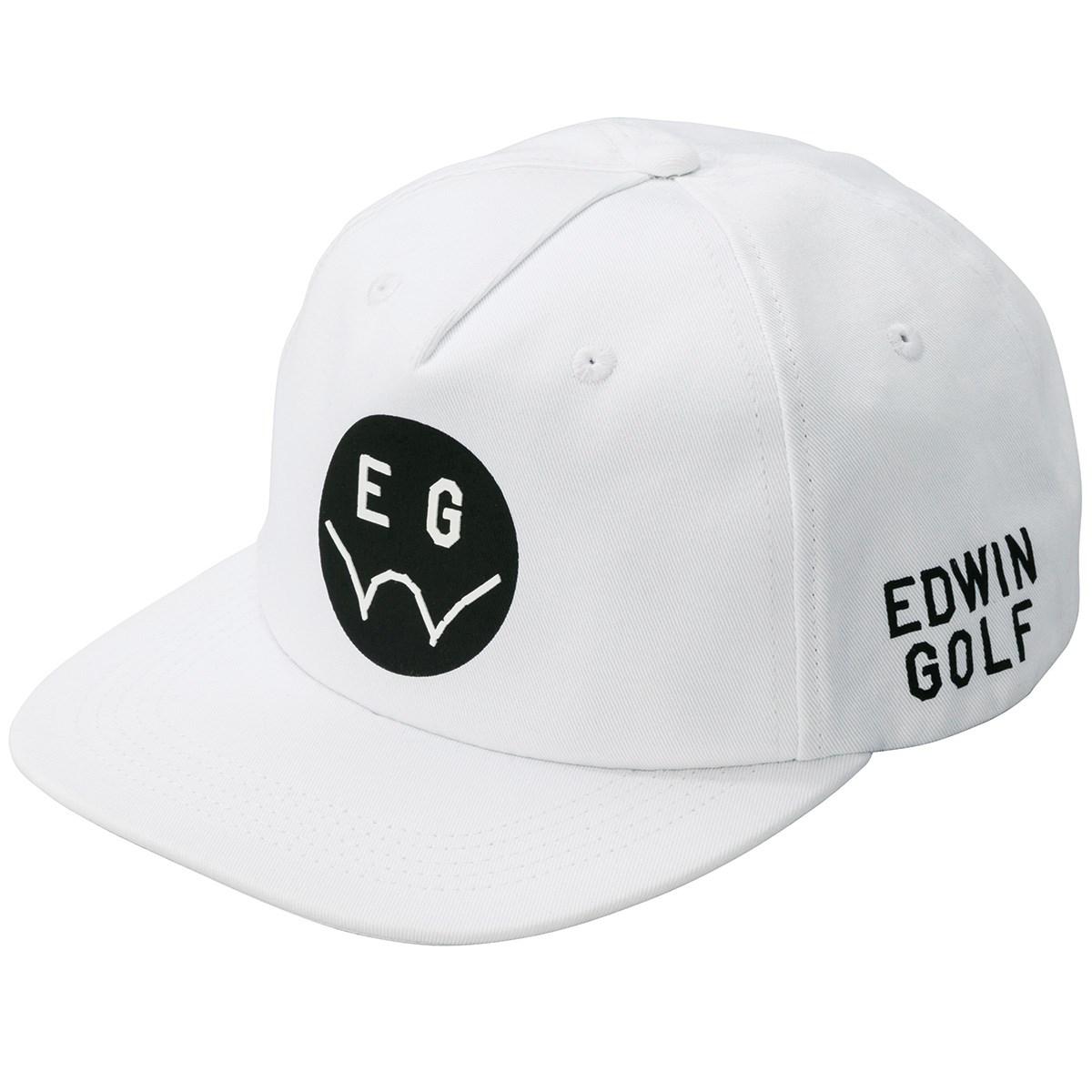 エドウイン EDWIN ツイルキャップ フリー ホワイト レディス