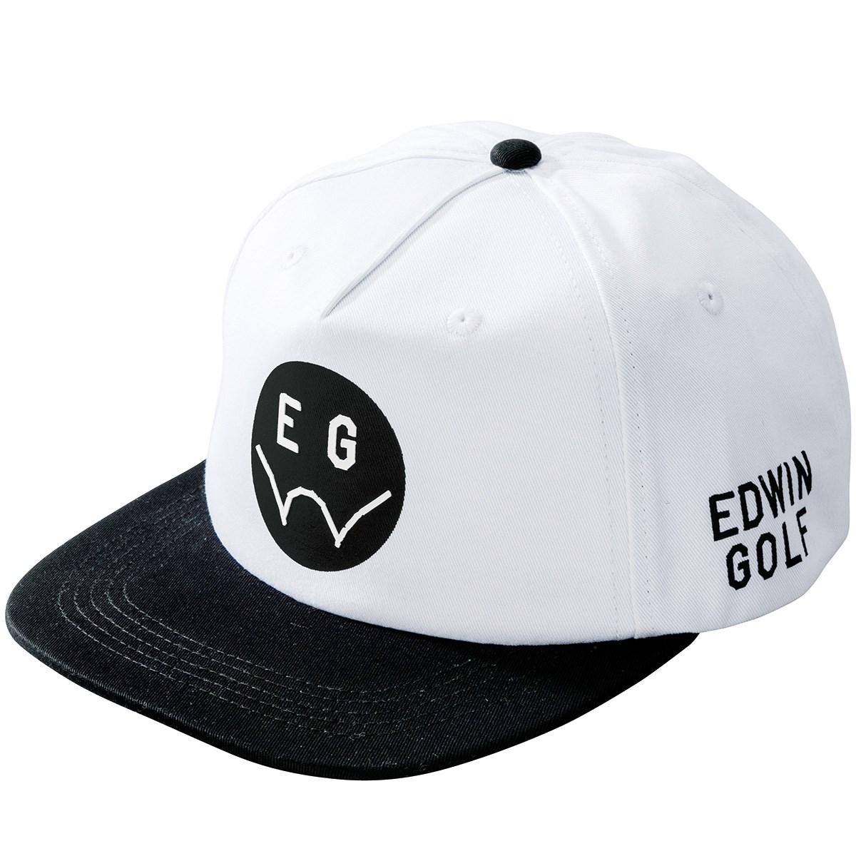エドウイン EDWIN ツイルキャップ フリー ホワイト/ブラック レディス