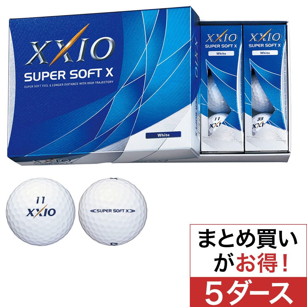 ダンロップ(DUNLOP) ゼクシオ SUPER SOFT X 5ダースセット