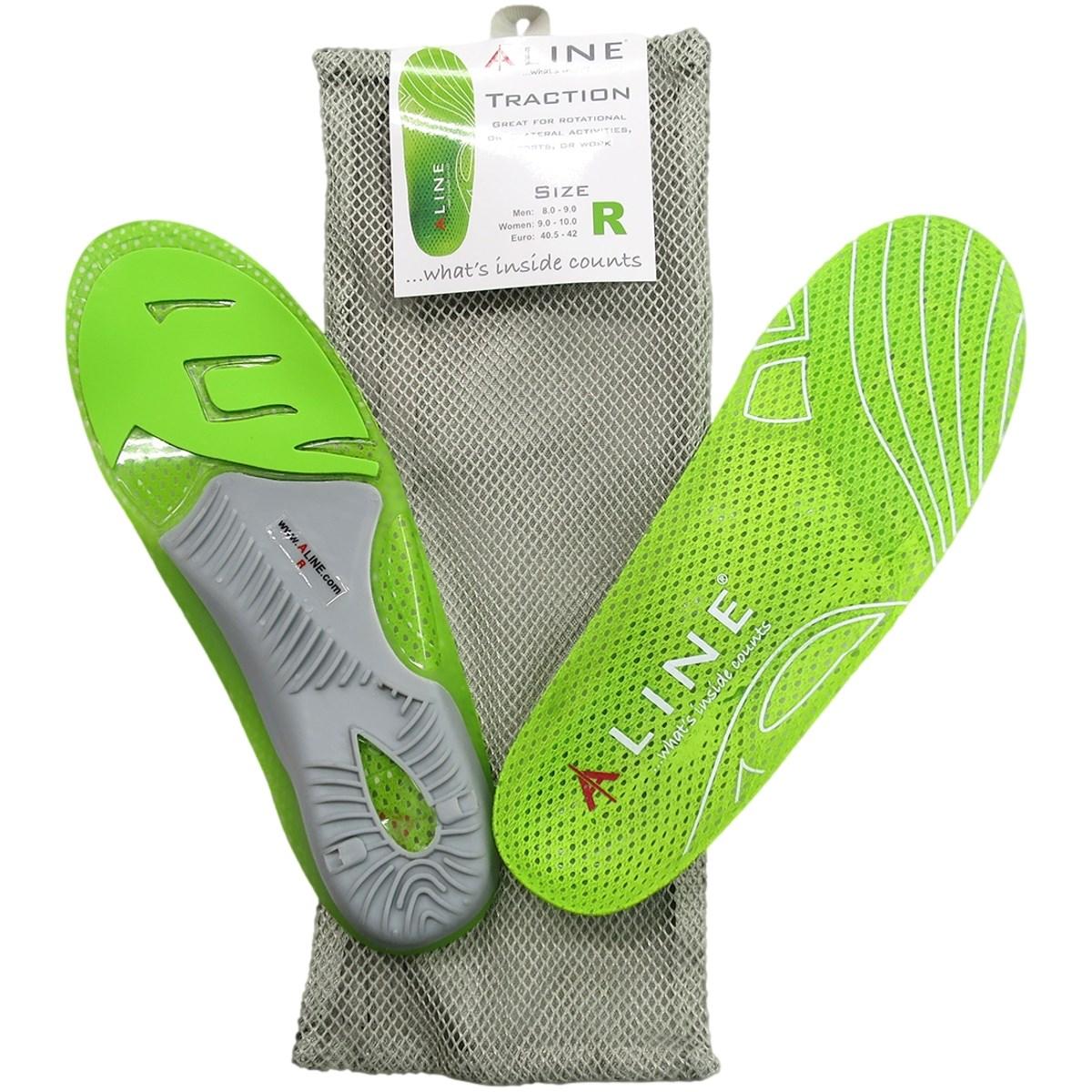 エーライン ALINE ゴルフインソール グリーン P(24.5-25.5cm)