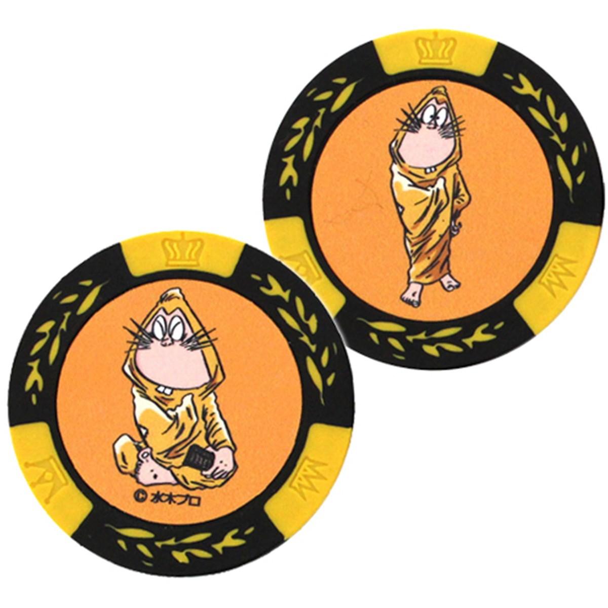 ホクシン交易 ゲゲゲの鬼太郎カジノチップマーカー イエロー
