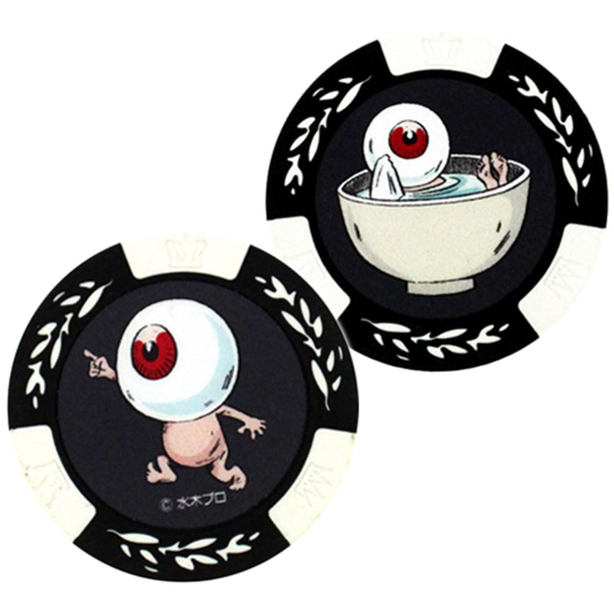 ホクシン交易 ゲゲゲの鬼太郎カジノチップマーカー ホワイト