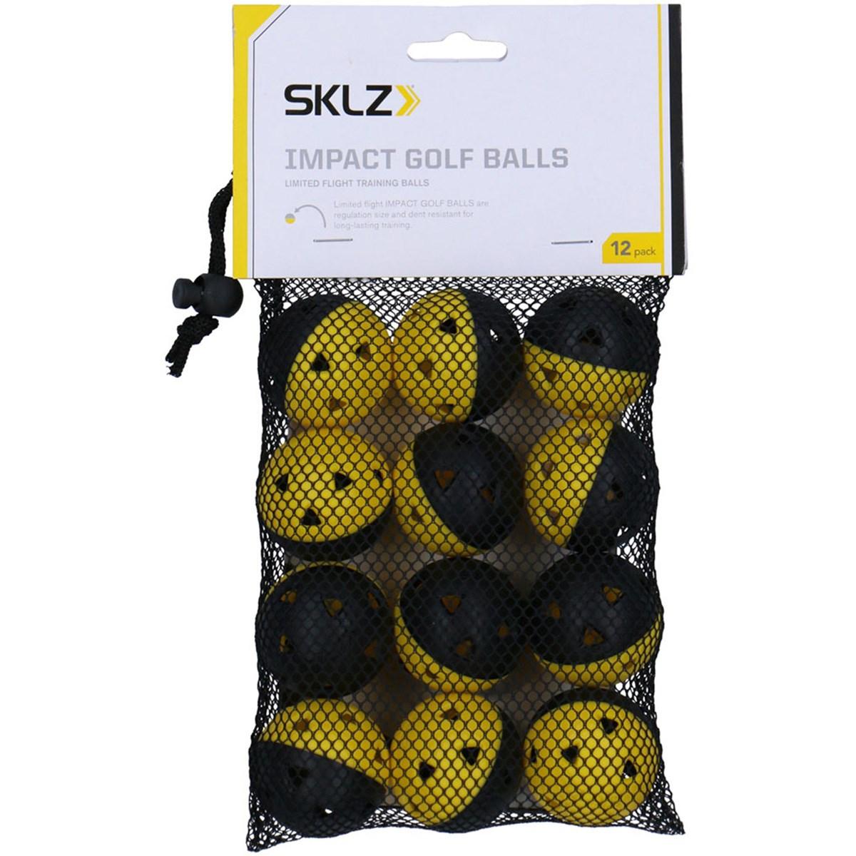 スキルズ SKLZ 練習用インパクトゴルフボール 12個入り 直径4.5cm(1個) イエロー
