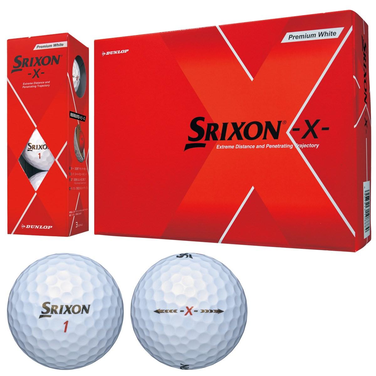 ダンロップ SRIXON スリクソン X ボール 1ダース(12個入り) プレミアムホワイト