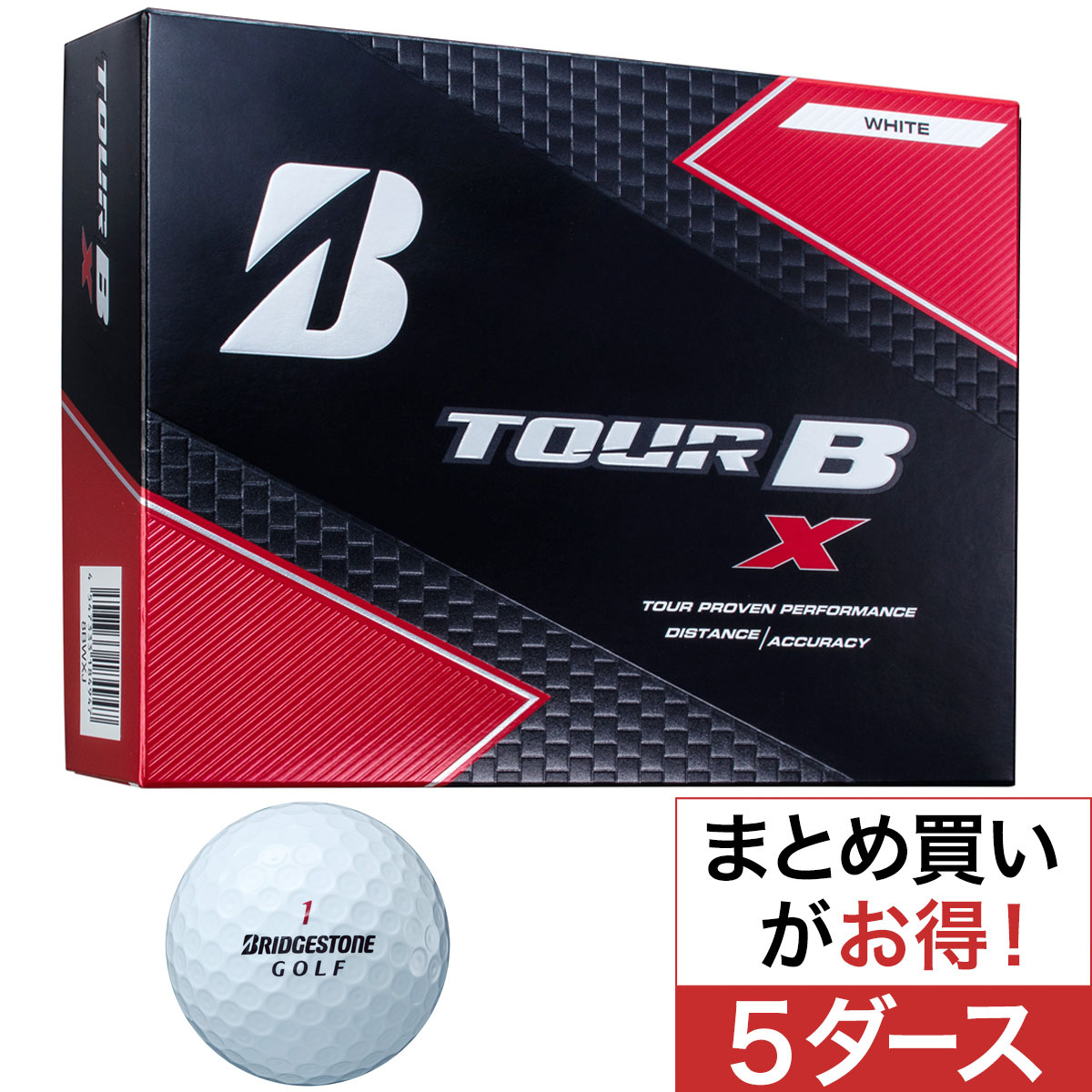 TOUR B X BS GOLFロゴ ボール 5ダースセット