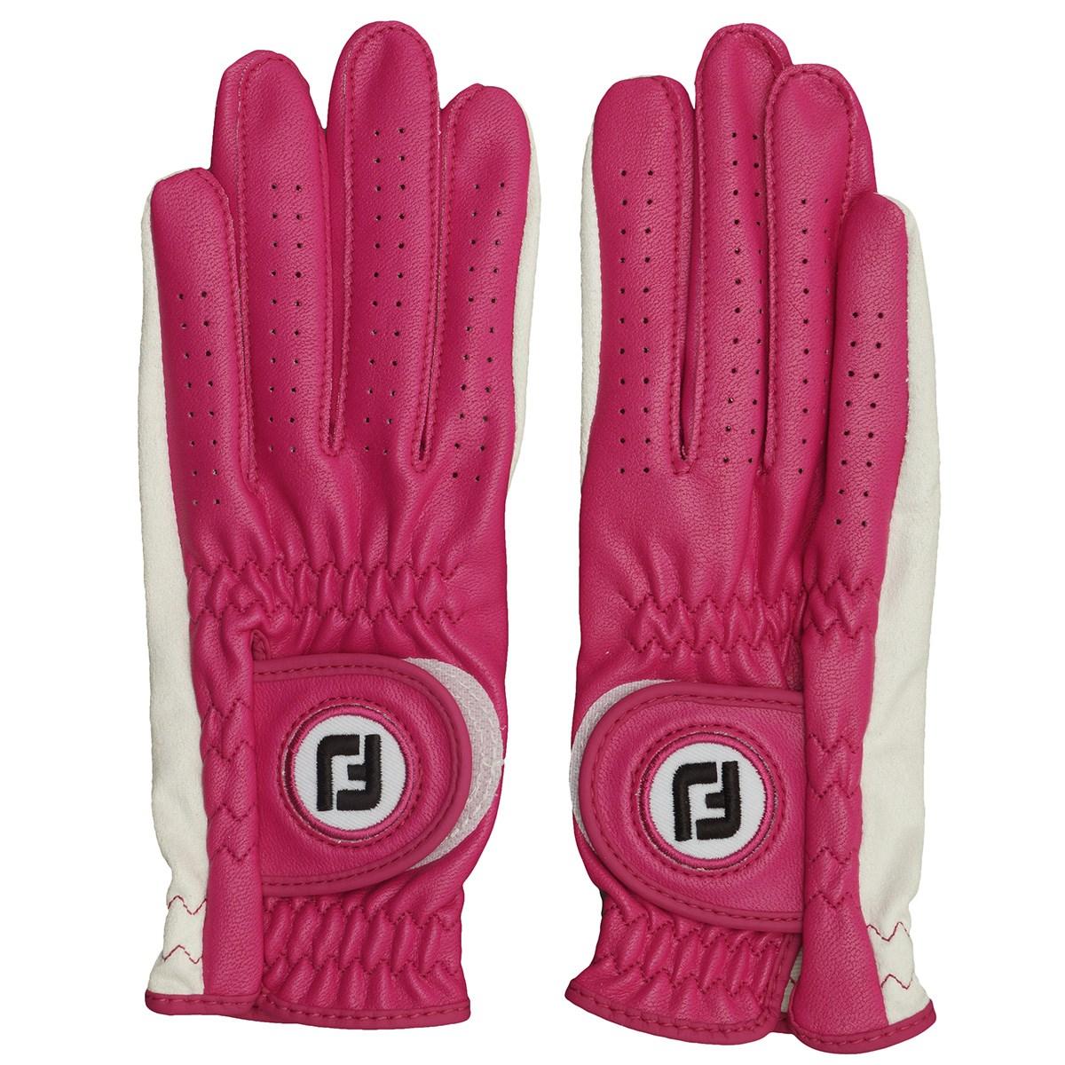 フットジョイ Foot Joy ナノロックレディグローブ 両手用 18cm 両手用 ホワイト/ピンク レディス