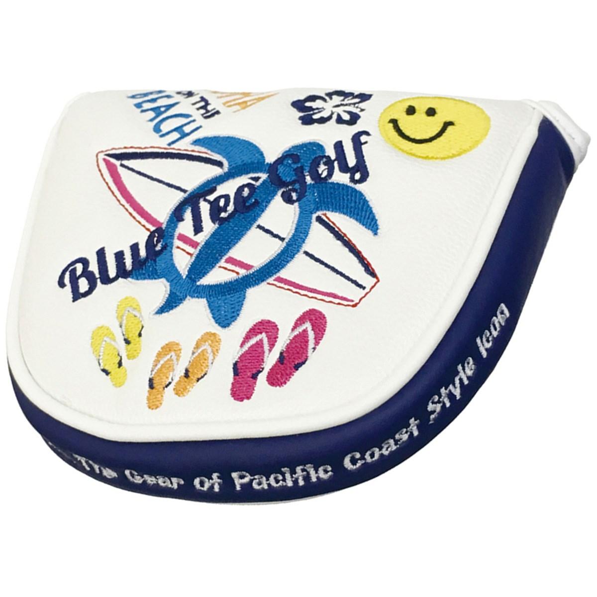 ブルーティーゴルフ BLUE TEE GOLF ALOHA ON THE BEACH パターカバー ホワイト