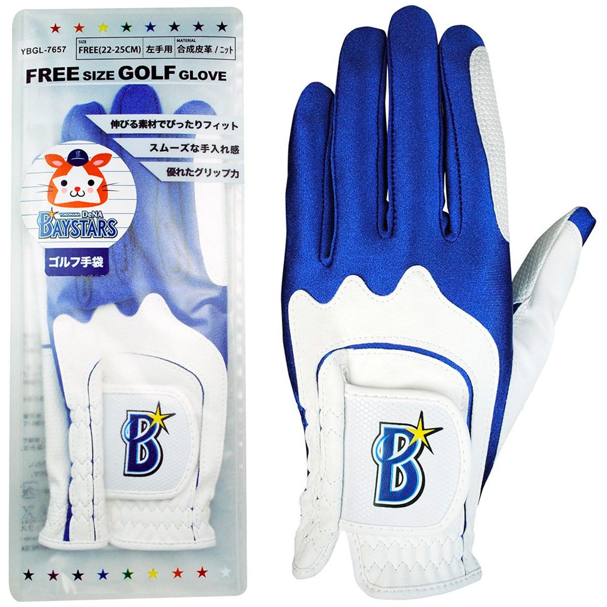 横浜DeNAベイスターズ カラーグローブ フリー 左手着用(右利き用) ホワイト/ブルー