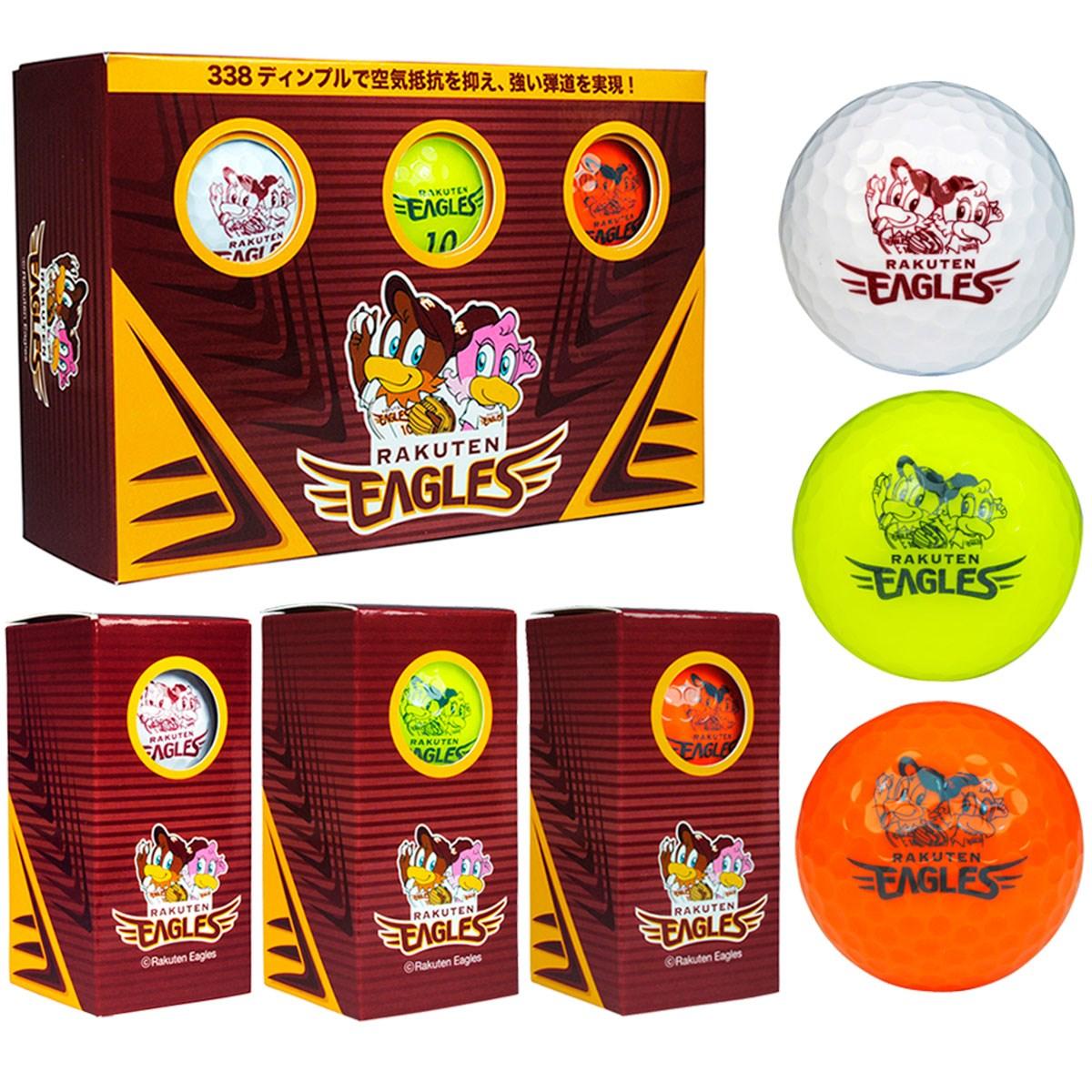 楽天イーグルス ゴルフボール 半ダース 半ダース(6個入り) ホワイト/イエロー/オレンジ 【非公認球】