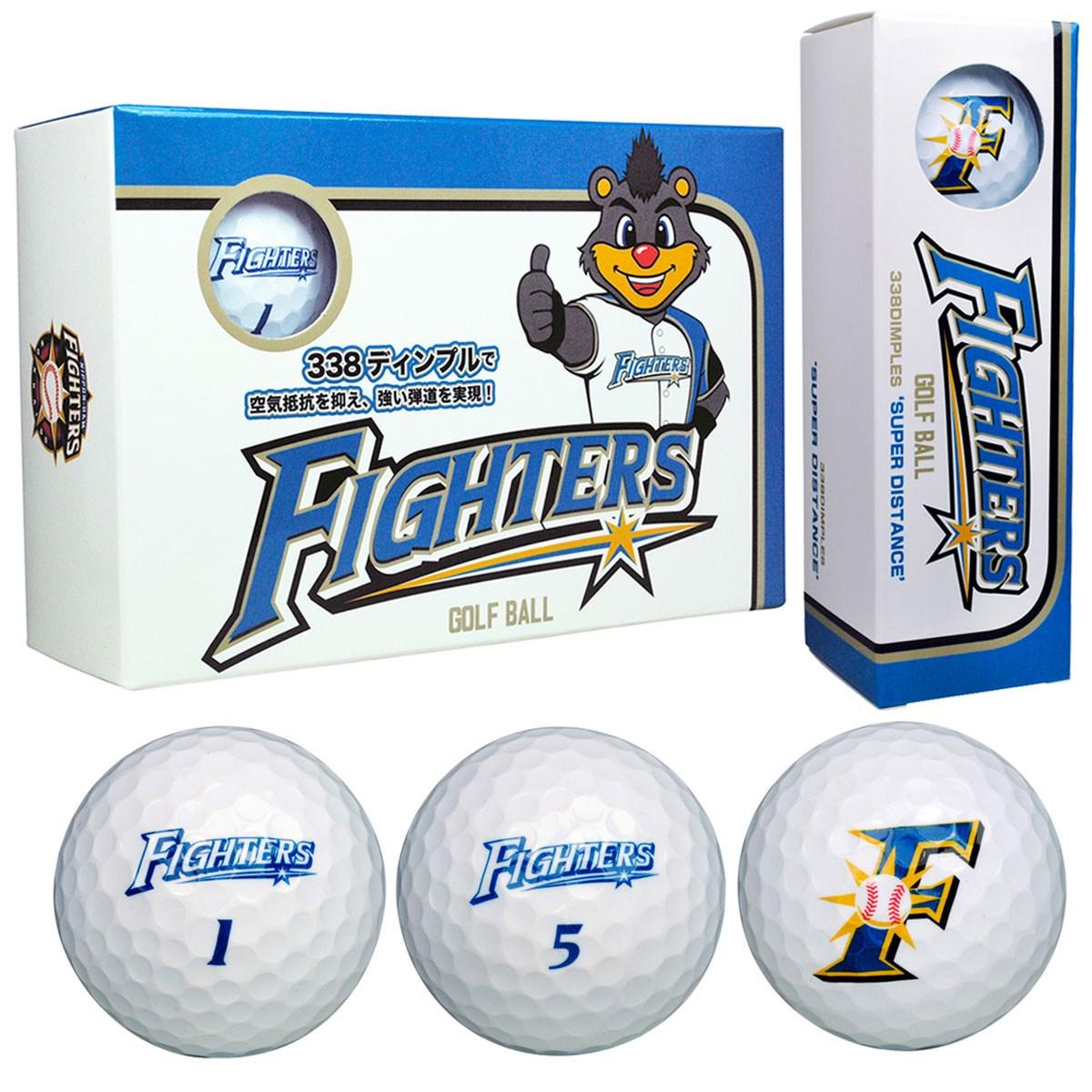 北海道日本ハムファイターズ ゴルフボール 半ダース 半ダース(6個入り) ホワイト 【非公認球】