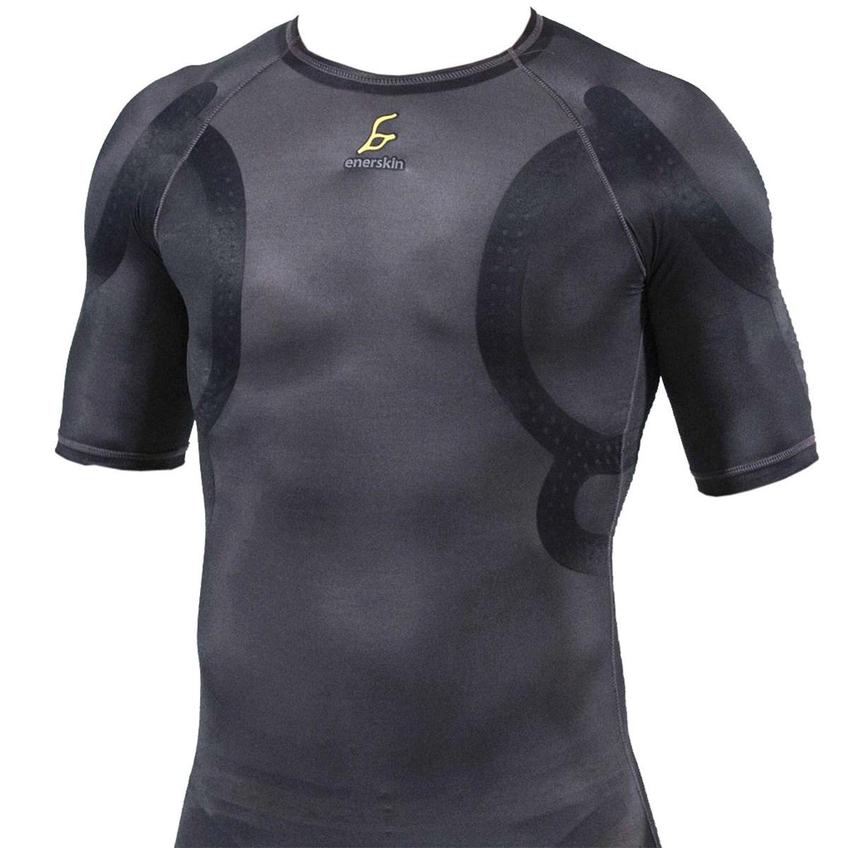 [アウトレット] [在庫限りのお買い得商品] エナスキン E70 プロアスリート向け半袖アンダーシャツ ブラック メンズ ゴルフウェア