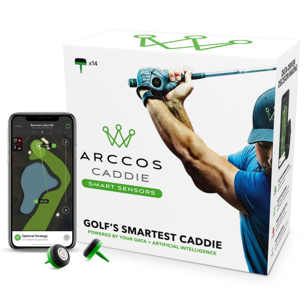 アーコスゴルフ Arccos Golf Arccos Caddie Smart Sensors ブラック/グリーン